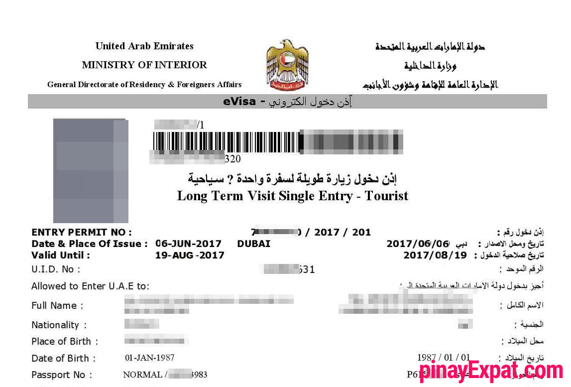 Documents required for Dubai Visa Online